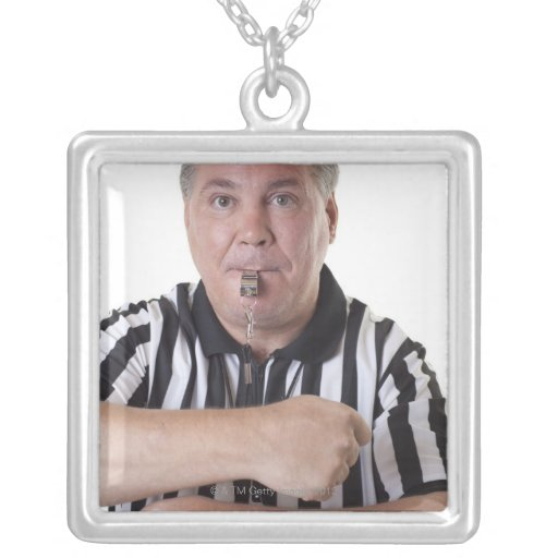 National Basketball Association (NBA) Traveling Square Pendant Necklace