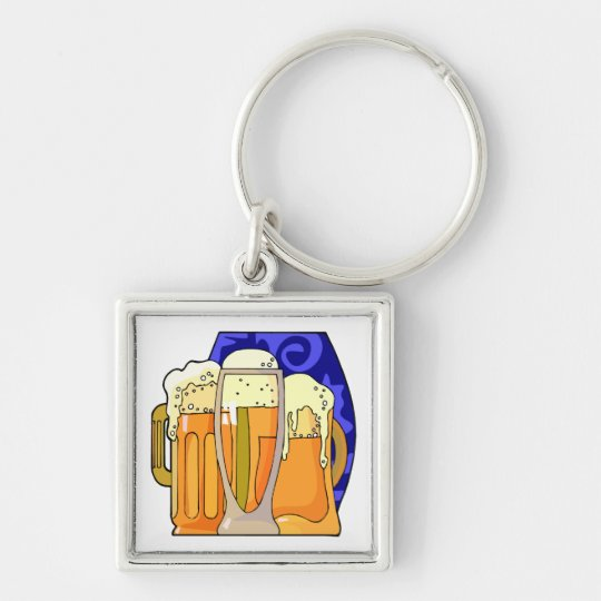 National Beer Day April 7 Keychain
