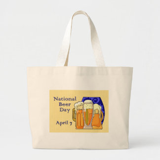 National Beer Day April 7 Large Tote Bag