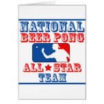National Beer Pong Team Card