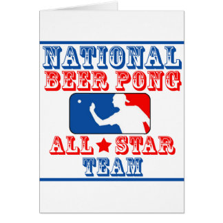 National Beer Pong Team Card