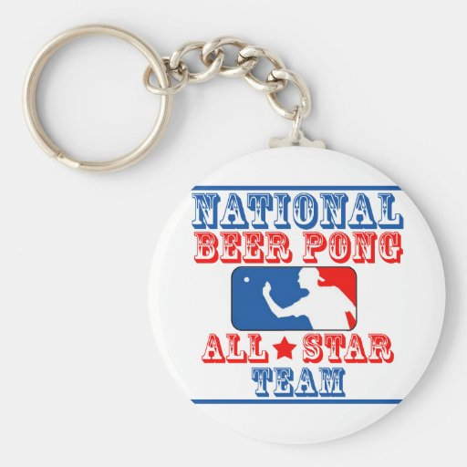 National Beer Pong Team Basic Round Button Keychain
