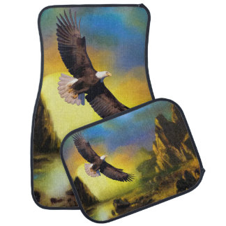 National Bird of America Bald Eagle Soaring Car Floor Mat