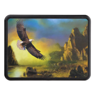 National Bird of America Bald Eagle Soaring Trailer Hitch Cover
