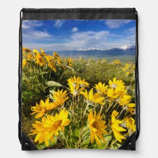 National Bison Range Drawstring Bag