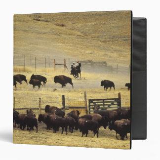 National Bison Range Roundup in Montana 3 Ring Binders