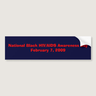 National Black HIV/AIDS Bumper Sticker