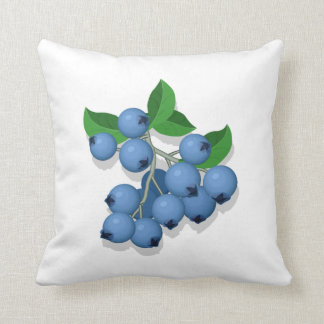 National Blueberry Month Throw Pillow