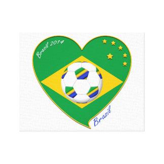 "National Brazilian football team. Soccer ""BRAZIL "" Canvas Print"