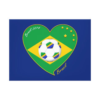 "National Brazilian football team. Soccer ""BRAZIL "" Gallery Wrap Canvas"