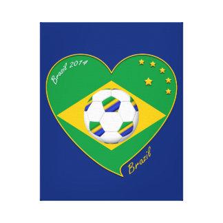 "National Brazilian football team. Soccer ""BRAZIL "" Stretched Canvas Print"
