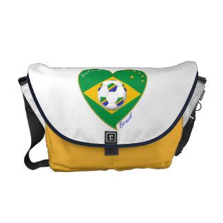 "National Brazilian football team. Soccer ""BRAZIL "" Courier Bags"