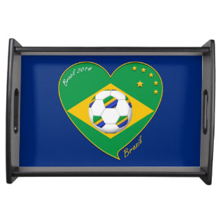 "National Brazilian football team. Soccer ""BRAZIL "" Serving Tray"