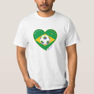 "National Brazilian football team. Soccer ""BRAZIL "" T-Shirt"