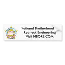 National Brotherhood Of Redneck Engineering Bumper Sticker