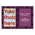 National Business Women's Day add photo Greeting Card