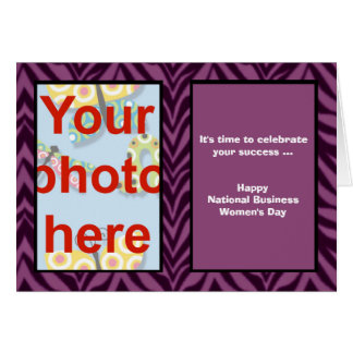 National Business Women's Day add photo Card