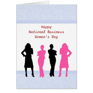 National Business Women's Day working Mom Card
