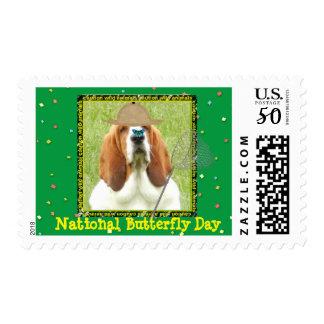 """National Butterfly Day"" Basset ""U.S. Postage"" Postage"