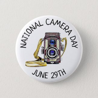 National Camera Day June 29th Holidays Button