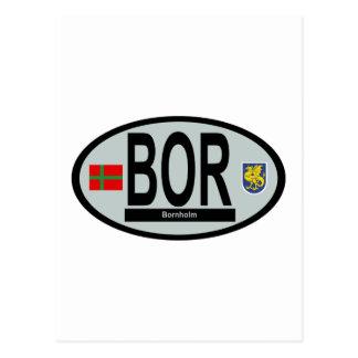 National car code Bornholm Postcard