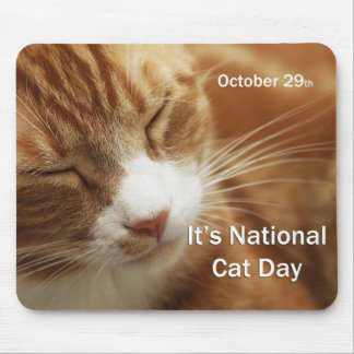 National Cat Day Mouse Pad October 29