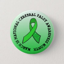 National Cerebral Palsy Awareness Month Button