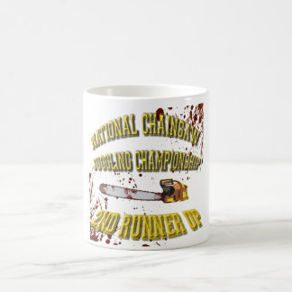 National Chainsaw Juggling Championship Classic White Coffee Mug