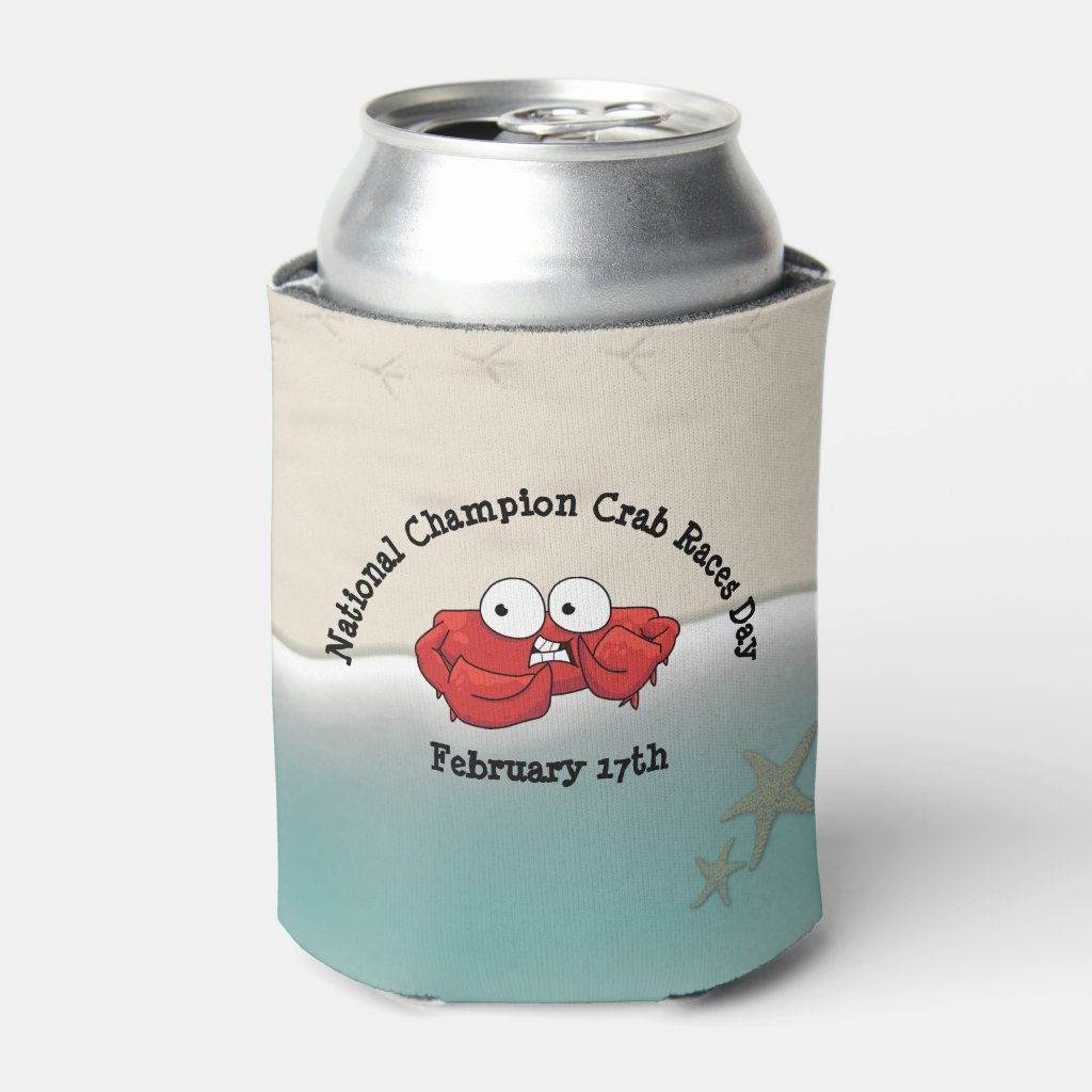 National Champion Crab Races Day Soda Cooler