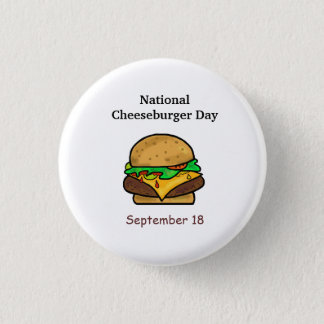 National Cheeseburger Day Buttons