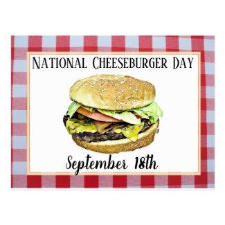 National Cheeseburger Day September 18th Postcard