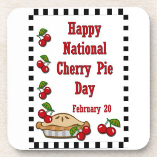 National Cherry Pie Day Coasters
