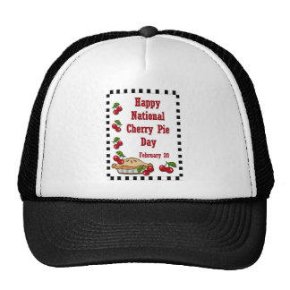 National Cherry Pie Day February 20 Mesh Hat
