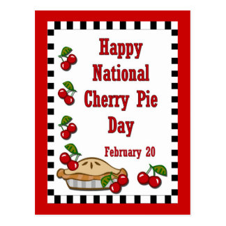 National Cherry Pie Day February 20 Postcard