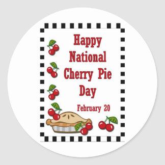 National Cherry Pie Day February 20 Sticker