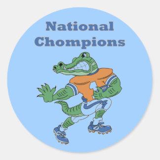 National Chompions Alligator Stickers