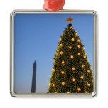 National Christmas Tree and Washington Monument Metal Ornament