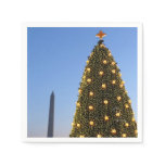 National Christmas Tree and Washington Monument Paper Napkin