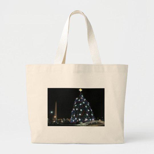 National Christmas Tree Washington Monument Large Tote Bag