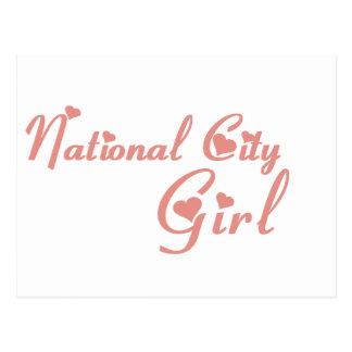 National City Girl tee shirts Post Card
