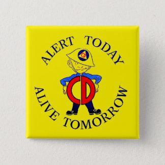 National Civil Defense Week Button