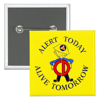 National Civil Defense Week Button