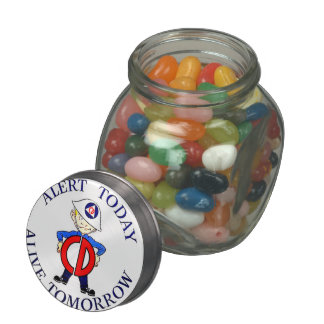 National Civil Defense Week Jelly Belly Candy Jars