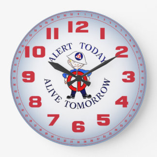 National Civil Defense Week Large Clock