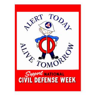 National Civil Defense Week Postcard