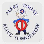 National Civil Defense Week Square Sticker