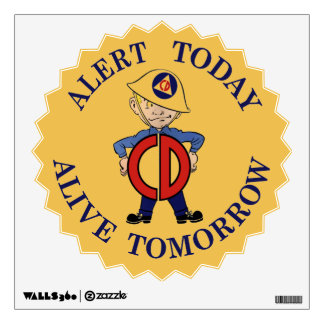 National Civil Defense Week Wall Decal