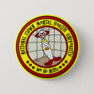 National Clown Mental Health University Pinback Button