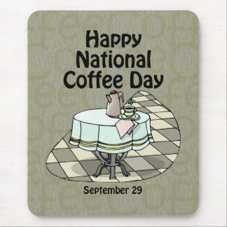 National Coffee Day September 29 Mouse Pad