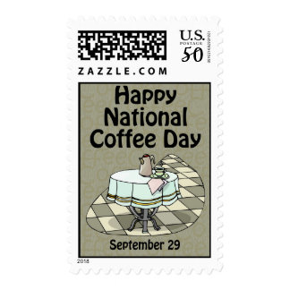 National Coffee Day September 29 Postage